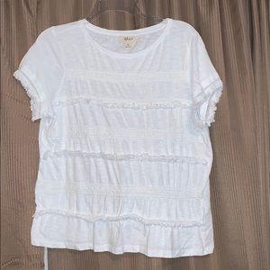 Style & Co embellished white t-shirt (M)